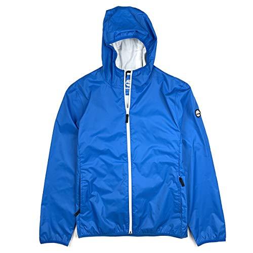 Timberland Men's Waterproof Packable Shell Rain Jacket (Blue, Large)