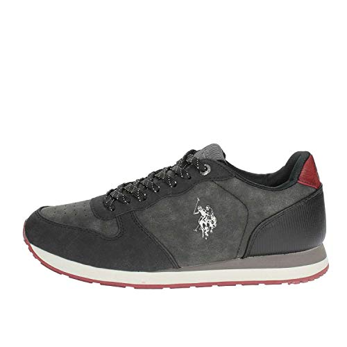 U.S. POLO ASSN. SHERIDAN3 Club, Sneaker Uomo, Nero (Black Blk), 42 EU