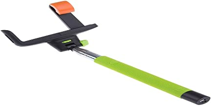 Selfie Stick, Z07-5 Quicksnap Pro 3-in-1 Self-portrait Monopod Extendable Wireless Bluetooth Selfie Stick with Built-in Bluetooth Remote Shutter with Adjustable Phone Holder for Iphone 6, Iphone 6 Plus, Iphone 5 5s 5c, Android (green)