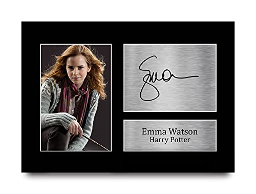 HWC Trading Emma Watson Gift Signed A4 Printed Autograph Hermione Granger...