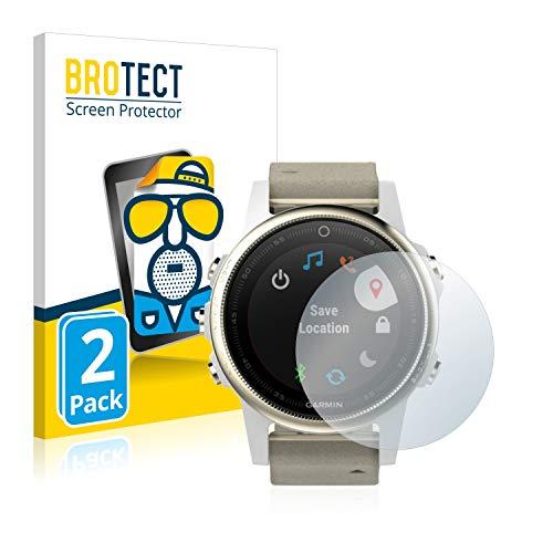 BROTECT 2X Entspiegelungs-Schutzfolie kompatibel mit Garmin Fenix 5S (42 mm) Bildschirmschutz-Folie Matt, Anti-Reflex, Anti-Fingerprint
