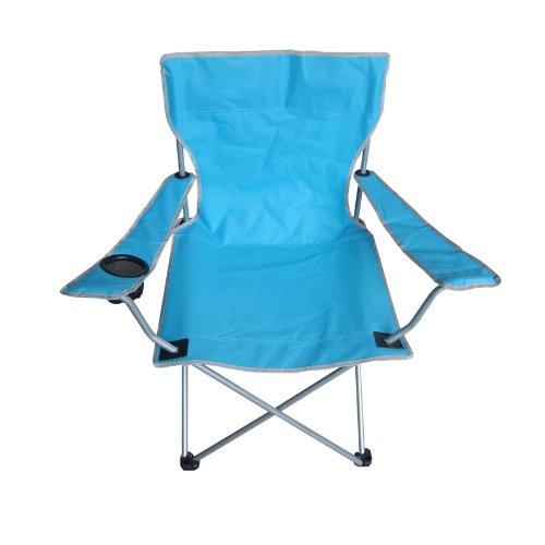 Festnight Tragbare Faltbar Oxford Stoff Sessel für Outdoor Terrasse Angeln Camping mit Becherhalter und Tasche Blau