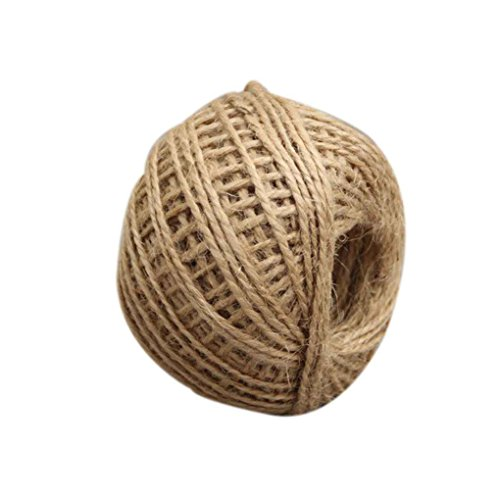 Regard Natral 50m Multicolor Verdrehte Burlap String Natural Band Fiber Jute-Schnur-Seil