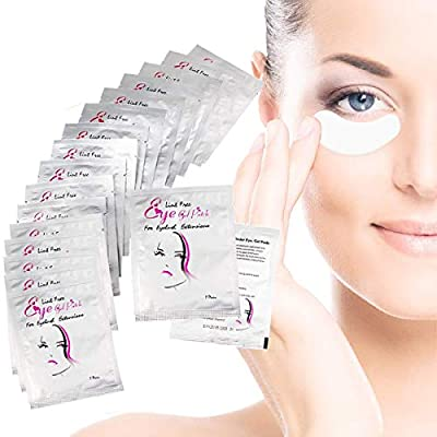 Bluesa Maamlly Eye Gal Pads, 50 Pair Lint Free Under Eye Gel Pads, Eyelash Extension Patches with Smooth Front Side and Collagen Back Side, for Pro Salon and Individual Eyelash Extension, Facials