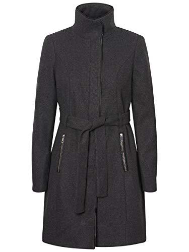 VERO MODA Damen Mantel VMBESSY Class 3/4 Wool Jacket NOOS, Grau (Dark Grey Melange), 36 (Herstellergröße: S)