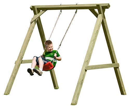 Gartenpirat Schaukel aus Holz für Kinder Einzelschaukel Premium Typ 1.1 aus Kreuz-Holz, TÜV