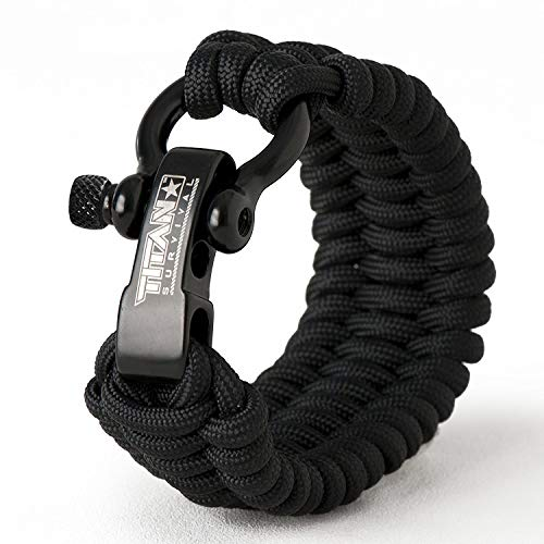 Titan Paracord Survival Bracelet | Made with Authentic Patented SurvivorCord (550 Paracord, Fishing line, Snare Wire, and Waxed...