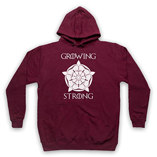 Inspired Apparel Inspirado por Game of Thrones House Tyrell Sigil Growing Stronger No Oficial Adultos Sudadera con Capucha