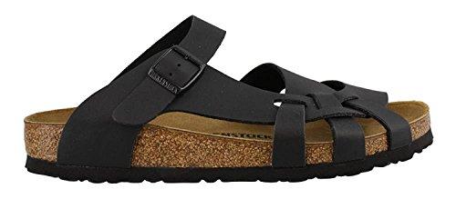 Birkenstock Pisa Sandals, Black Birko-Flor, EU 36 / US Womens 5-5.5 N