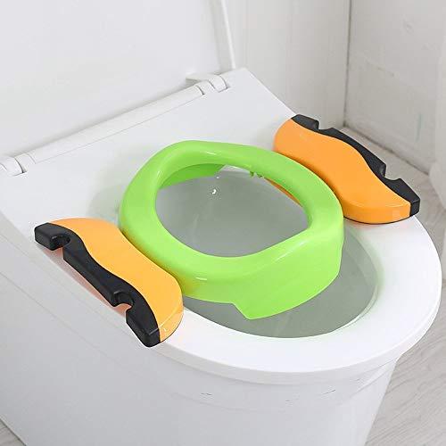 Faltbare Toilettensitze für Kinder/Baby, Tragbarer Reise WC Sitz, kinder-toilettensitz mit anti-rutsch-funktion, Kleinkind Töpfchentrainer von Colleer (Grün)