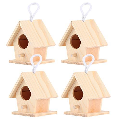 Nidos De Pájaros, Con Una Cuerda Colgante Casa De Madera Para Pájaros Casa De Madera Para Pájaros Forma única Y Duradera Para Vivir Y Jugar Para El Jardinero Para Que Los Pájaros Descansen