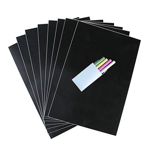 Ancdream 8 PCS Verwijderbare Blackboard Sticker Krijtbord Papier - 30cm x 20cm