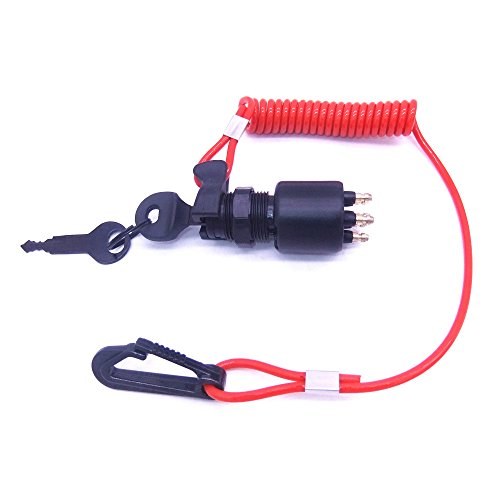 SouthMarine 175974 5005801 Ignition Switch & Key Assembly with Lanyard for OMC Johnson Evinrude 40-200HP Outboard Motor