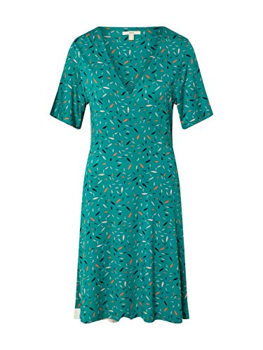ESPRIT Damen 030EE1E307 Kleid, 370/TEAL Green, M