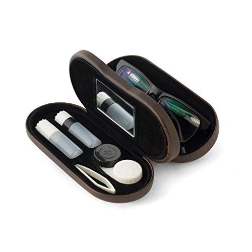 balvi-L'HédonisteWeißesEtuifürBrillenundKontaktlinsenmitSpiegel.EnthältKontaktlinsenbehälter,ZweiAufbewahrungsbehälterundeinePinzette.