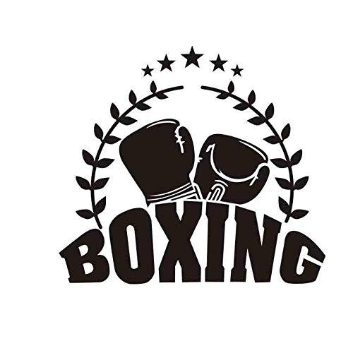 Boxhandschuhe Aufkleber Kick Boxer Spielen Auto Aufkleber Free Fight Poster Vinyl Front Wandtattoo Dekorieren Dekoration Boxen Aufkleber 42X48Cm