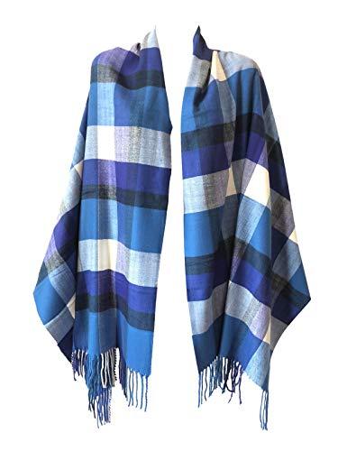 Women Oversized Scottish Clan Tartan Plaid Cashmere Feel Shawl Wrap Winter Scarf