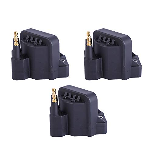 Motorhot Pack of 3 Ignition Coil Pack compatible with Buick Cadillac Chevrolet Oldsmobile Pontiac Compatible with L4 V6 C849 DR39 5C1058 E530C D555