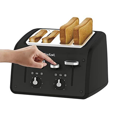 Tefal TF700N40 Toaster, Retra, 4 Slice, 1700 W, Black