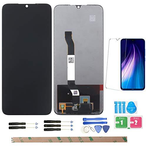 YHX-OU 6,3 pulgadas para Xiaomi Redmi Note 8 de reparación y sustitución LCD Pantalla táctil Digitizer con herramientas incluidas + 1 pieza de película protectora de cristal templado (negro)
