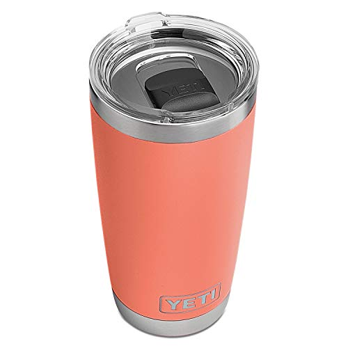 YETI Rambler 20 oz Stainless Steel Vacuum Insulated Tumbler w/MagSlider Lid, Coral