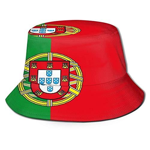 Bucket Hat Portugal Cortesía Bandera Gorra de Pesca de Verano Hombres Mujeres de ala Ancha Gorras de Viaje Reversibles Protección para los Ojos Gorros Gorros Sombreros para el Sol