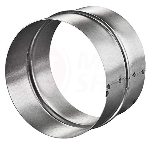 Verbinder PVC-ALU-Flex-Rund-Rohr Verbindungsstück Nippel Wickelfalzrohr Lüftung - MKK® Ø 125 mm