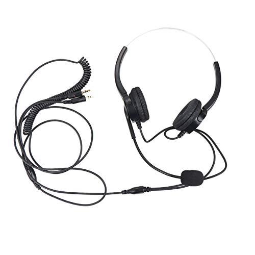 SOLUSTRE Micrófono Montado en La Cabeza Auriculares Auriculares con Cable sobre La Oreja con Micrófono Micrófono para Auriculares para Juegos de Negocios Music-Pc