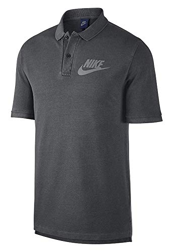 Nike Mens M NSW Polo PQ Wash HBR 886491-010_L - Black/Anthracite/Cool Grey