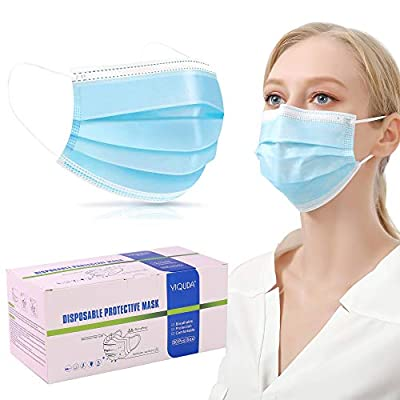 Disposable 3-Ply with Earloop Face Covering Lightweight Dust Protective Facial Masks 50 pcs from XUANBON-US