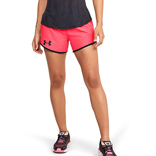 Under Armour Fly by 2.0 Wordmark Damen-Laufshorts, Damen, Shorts, Fly by 2.0 Wordmark Running Short, Beta (628)/Reflektierend, Small