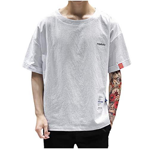 Meilleure Vente LuckyGirls Homme T-Shirt /à Manche Courte Polo Chemise Shirt Fermeture /éclair Blouses Casual Classique Shirt Short Sleeve