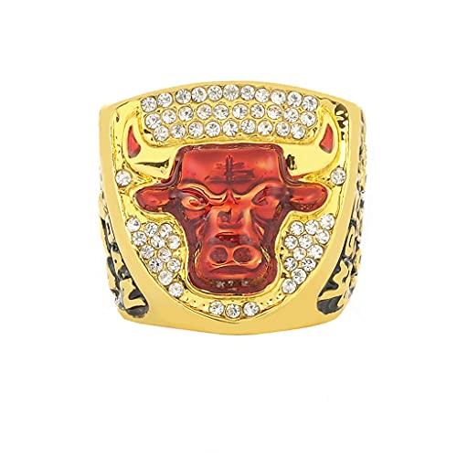 1993 NBA Chicago Bulls Jordan Team Championship Ring Anillos de Hombre, Championship Anillo de réplica Personalizado Anillos de Diamantes para Hombres,Without Box,12
