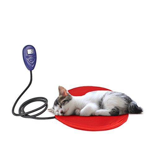 Lesypet mascotas–Seguro y impermeable de calefacción Cojín de calefacción para perros y gatos, passenden UL Monitorear adaptador rojo, 30x 30cm