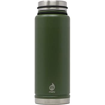 Wide Mouth with Leak Proof V-Lid Mizu 15 oz Multiple Colors BPA Free Double Wall Stainless Steel Vacuum Insulated V5 Water Bottle