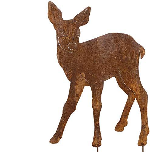 Alt Mebel Ihr GartenTraum, Edel Rost REH Bambi Gartenfiguren Tierfiguren Waldtiere Gartendeko skulptur, Rost Tiere Deko, Garten Figuren