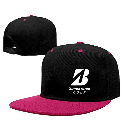 Adult Bridgestone Golf Beach Hat Hiphop Cap Vintage (5 Colors) Pink