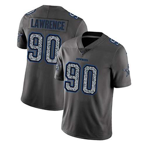EBDC Cowboys Lawrence 90# Camiseta de rugby para hombre adulto, juvenil al aire libre fútbol americano ropa deportiva de entrenamiento de manga corta, absorbe el sudor de secado rápido, color color, tamaño 3XL (197 cm+)