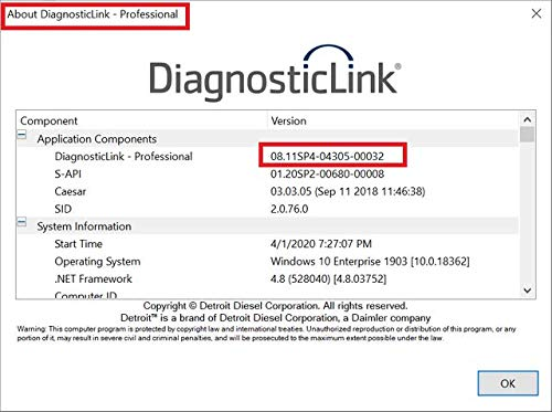 Detroit Diesel Diagnostic Link (DDDL 8.11) Professional 2020 -ALL Grayed Parameters Enabled ! ALL Level 10 !! Online Installation Service