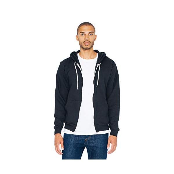American Apparel Men's Flex Fleece Long Sleeve Zip Hoodie, F497