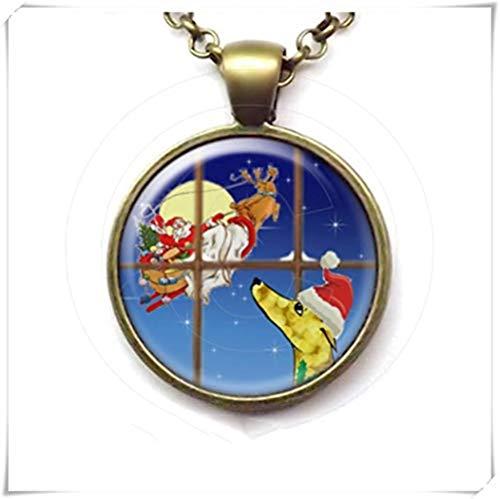 Greyhound hanger, Kerstman in het raam ketting, Hond, Sighthound Kerstmis
