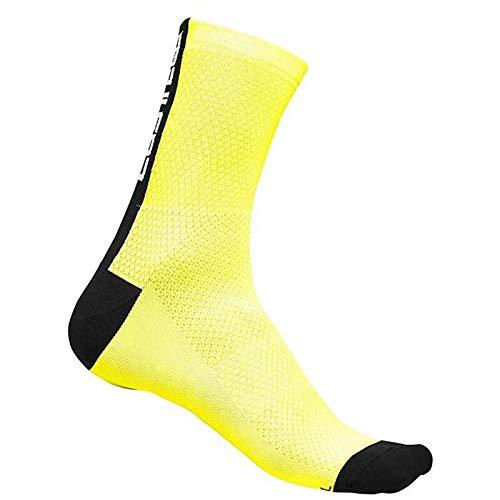 Kompresyjne męskie nowe skarpetki kolarskie męskie na zewnątrz sportowe odporne na zużycie obuwie rowerowe do kolarstwa szosowego skarpety do biegania (kolor: Żółty, rozmiar: 39 45)