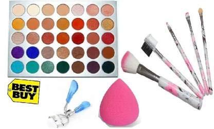 INENCE MORPHE Eyeshadow Palette_5 PCS Brush Set_Eye Curler_AND Beauty blender_(multicolor)_(4 ITEM IN THE SET) (4 Items in the set)