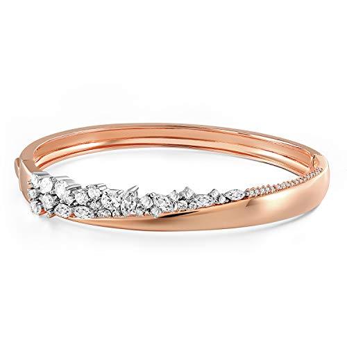Angelady Bracelet Or Rose Bracelet Argent avec 5A Zircon Cubique, Cadeau Anniversaire Cadeau Saint Valentin Femme Maman