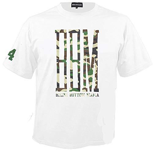 SPONGEBOZZ - BBM - Camo Logo - White - T-Shirt Größe S