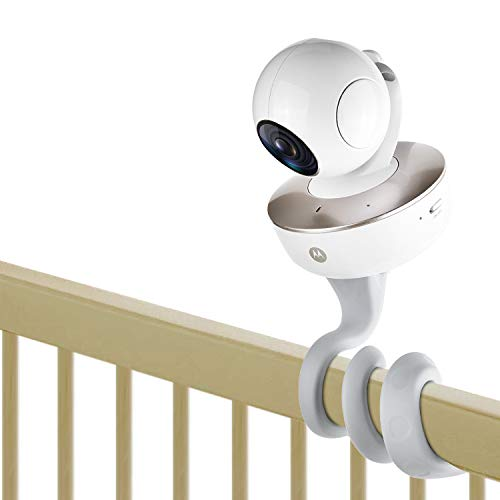 baby monitor mounts iTODOS Baby Monitor Mount for Arlo,Owlet,Goodbaby,Hellobaby,ANMEATE, Vtech,Motorola Baby Monitor and Most Universal Monitors Camera, Versatile Twist Mount Without Tools or Wall Damage- Gray