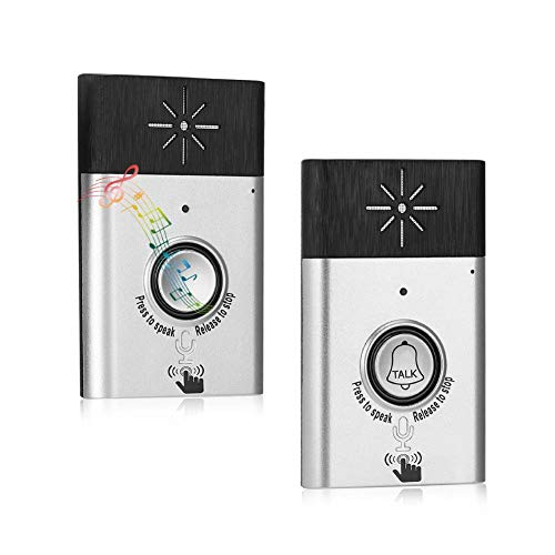 Wireless Intercom Doorbells Two-way Portable Walkie-Talkie Operating at Over 600 feet for Home and Offfice Include 1 Receiver Talk Home Doorbell Intercom Kit.(Silver)