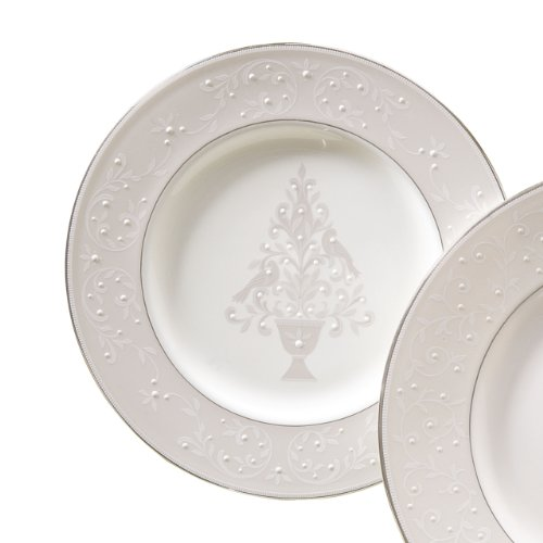 Lenox Opal Innocence Tree Accent Plate,White,Accent Plate, Tree