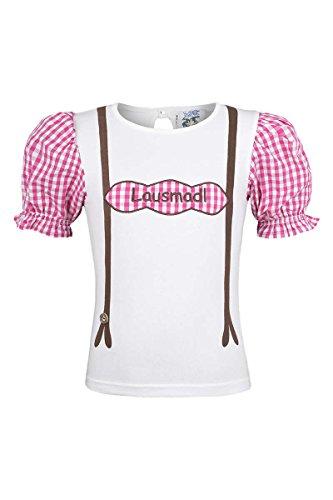 Isar-Trachten Mädchen T-Shirt 'Lausmadl', pink, 128