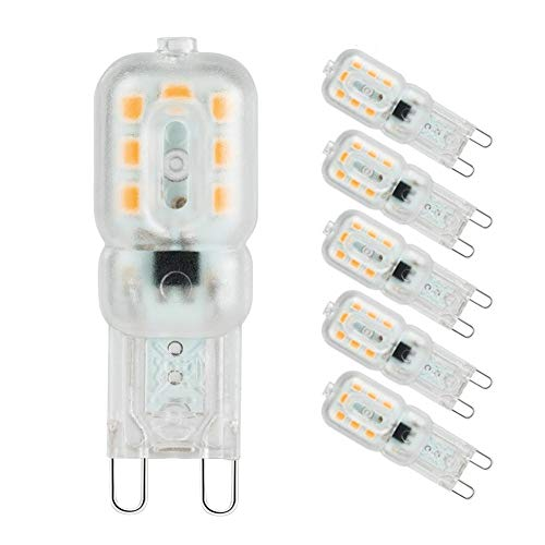 Rysmliuhan Shop KüHlschrank GlüHbirne GlüHbirne Backofen LED-Glühbirnen für die Innenbeleuchtung Dimmbare Glühbirnen Glühbirnen G9 Badezimmer Glühbirnen warm White,110v-dimmable